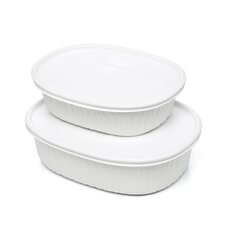 <strong>Corningware</strong> French White Oval Mini Set