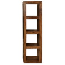 Cubex Living Four Hole Vertical Shelving Unit in Warm Lacquer