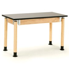 Dual Book Compartment Science Table with Casters