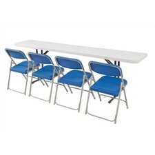 <strong>National Public Seating</strong> 5' Rectangular Narrow Folding Table