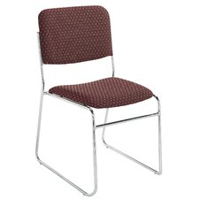 Signature Lightweight Fabric Padded Stack Chair