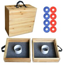 Go Pong Premium Solid Wood Washer Toss Game