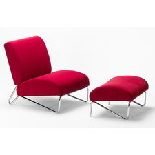 Easy Rider Slipper Chair with Ottoman