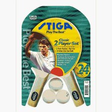 2 Player Table Tennis Racket Set (Pips Out)