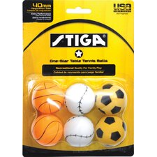 <strong>Stiga</strong> One-Star Sport Table Tennis Ball (Pack of 6)