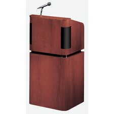 Veneer Table Top Lectern with Sound