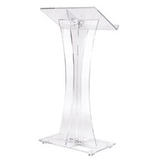 <strong>Oklahoma Sound Corporation</strong> Curved Style Clear Podium #471