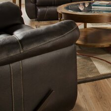 Blackjack Bonded Leather Power Rocker Recliner