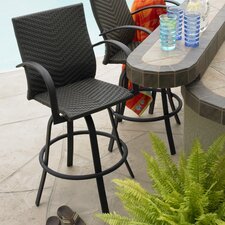 <strong>The Outdoor GreatRoom Company</strong> Naples Swivel Barstool Set (Set of 2)