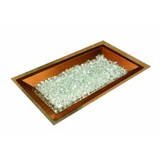 Rectangular Crystal Fire Copper Burner