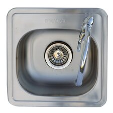 "14"" L x 14"" W Kitchen Sink with Single Faucet"