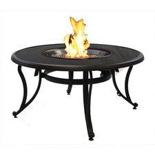 Glass Fire Pit Table with Matching Center Top