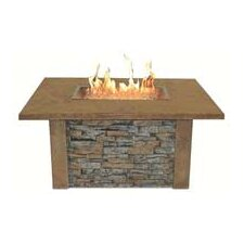 <strong>The Outdoor GreatRoom Company</strong> Sierra Firepit Table with Rectangle Burner