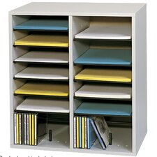 <strong>Safco Products Company</strong> Small Wood Adjustable-Compartment Literature Organizer