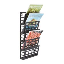 <strong>Safco Products Company</strong> Grid 5 Pocket Magazine Rack