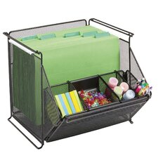 <strong>Safco Products Company</strong> Onyx Stackable Mesh Storage Bins