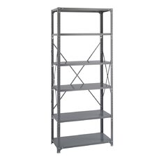 "Industrial 85"" H 6 Shelf Shelving Unit"