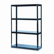 "Boltless Steel 49"" H 4 Shelf Shelving Unit"