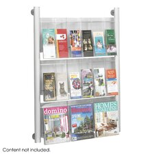 Luxe 9 Pocket Magazine Rack in Silver