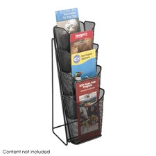 <strong>Safco Products Company</strong> Onyx Mesh Counter Display, 4 Compartments