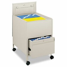 Locking Mobile Tub File with Drawer, Legal