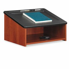 Tabletop Lectern With Open Storage Area, 23-7/8w x 18-1/2d x 13-3/4h, Cherry