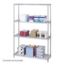 "<strong>Safco Products Company</strong> Industrial Wire Starter Unit (48"" x 18"" Shelves)"
