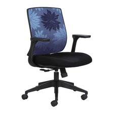 Mid Back Chair with Fixed Arms