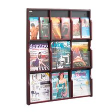 <strong>Safco Products Company</strong> Expose Adj Magazine/Pamphlet 9-Pocket Display
