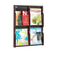 <strong>Safco Products Company</strong> Expose Four Magazine and Eight Pamphlet Display Wall Rack