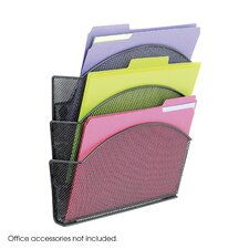Onyx Magnetic Mesh Panel Accessories, 3 File Pocket