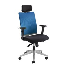 <strong>Safco Products Company</strong> TMesh Managerial Chair with T-pad Arms and Headrest