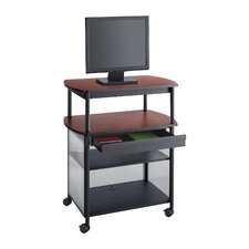 "<strong>Safco Products Company</strong> Impromptu Av Cart with Storage Drawer, 3-Shelf, 36.5"" Wide"