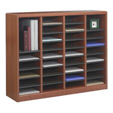 "<strong>Safco Products Company</strong> E-Z Store Wood 32 1/2"" Literature Organizer"