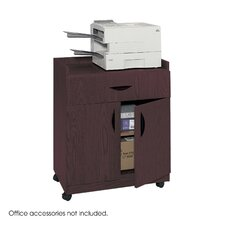 "Mobile Laminate Machine Stand with Pullout Drawer, 30"" High"