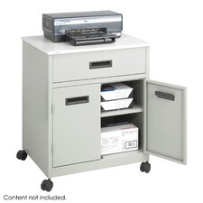 <strong>Safco Products Company</strong> Steel Machine Stand with Pullout Drawer