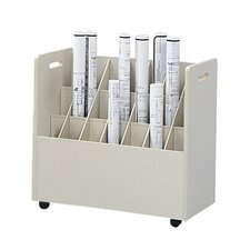 <strong>Safco Products Company</strong> Mobile Roll File (21 Tubes)