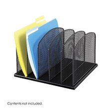 5 Section Mesh Upright Desk Organizer