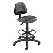 <strong>Safco Products Company</strong> Precision Extended Height Swivel Stool with Adjustable Footring
