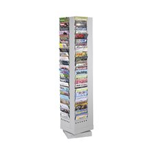 <strong>Safco Products Company</strong> Steel Rotary Magazine Rack, 92 Compartments