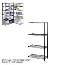 "<strong>Safco Products Company</strong> Industrial Wire Add-On Unit (36"" x 18"" Shelves)"