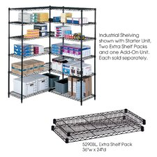 "Industrial Wire Extra Shelves (36"" x 24"" Shelves) (Set of 2)"