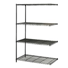 "<strong>Safco Products Company</strong> Industrial Wire Add-On Unit (48"" x 24"" Shelves)"