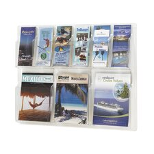 <strong>Safco Products Company</strong> Reveal Clear Literature Displays, 9 Compartments
