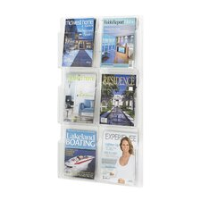 6 Pocket Vertical Magazine Rack