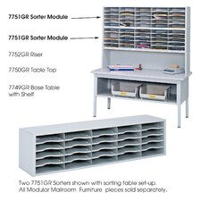 <strong>Safco Products Company</strong> E-Z Sort Steel Mail Sorter Module, Light Gray Steel