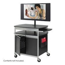 <strong>Safco Products Company</strong> Scoot Flat Panel Multimedia Cart in Black