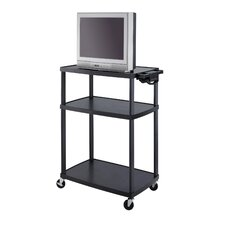 Mobile AV Adjustable TV Cart