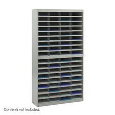 Steel Literature Organizer with 72 Letter-Size Compartments