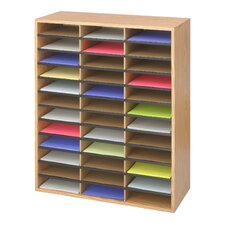 <strong>Safco Products Company</strong> Large Wood/Corrugated Literature Organizer